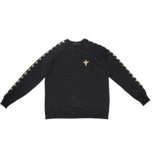 Sweatshirt Pattern Gold Angel Black - Sweatshirts