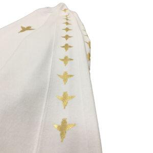 Sweatshirt Pattern Gold Angel White - Sweatshirts