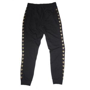 Sweatpants Pattern Gold Angel Black - Calças