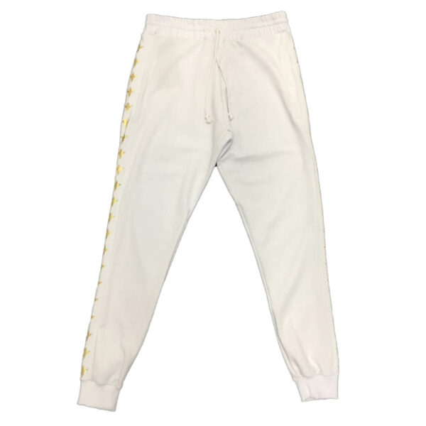 Sweatpants Pattern Gold Angel White - Calças