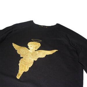 Sweatshirt 3D Gold Angel Black - Sweatshirts
