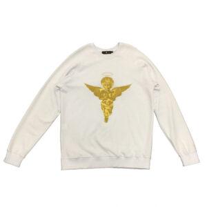 Sweatshirt 3D Gold Angel White - Sweatshirts